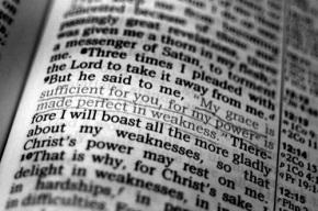 Strength in stillness: (2 Cor12:8-10)